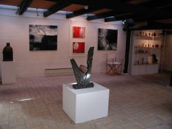Paintings, pottery and sculpture